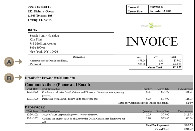 Project Based Invoice